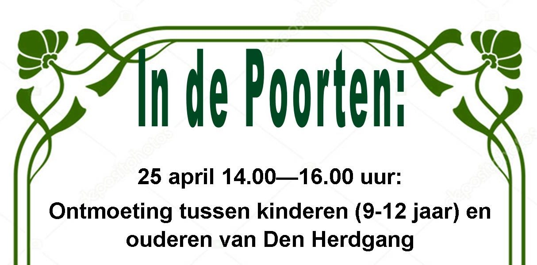 Ontmoeting tussen kinderen ( 9-12 jaar) en ouderen van Den herdgang.
